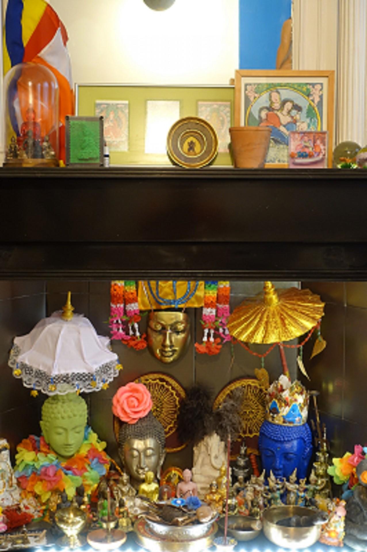 Autel à bouddhas
